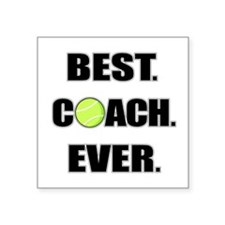 Best Coach Ever Tennis Sticker