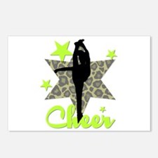 Green Cheerleader Postcards (Package of 8)