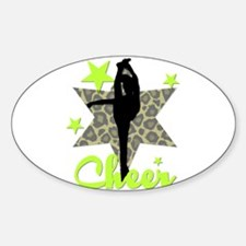 Green Cheerleader Decal