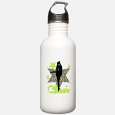Green Cheerleader Water Bottle