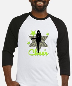 Green Cheerleader Baseball Jersey