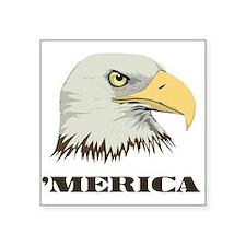 American Bald Eagle For Merica Sticker