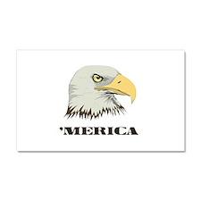 American Bald Eagle For Merica Car Magnet 20 x 12