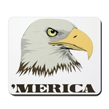 American Bald Eagle For Merica Mousepad