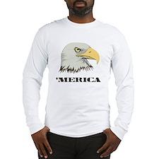 American Bald Eagle For Merica Long Sleeve T-Shirt
