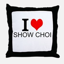 I Love Show Choir Throw Pillow