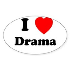 Drama Oval Decal