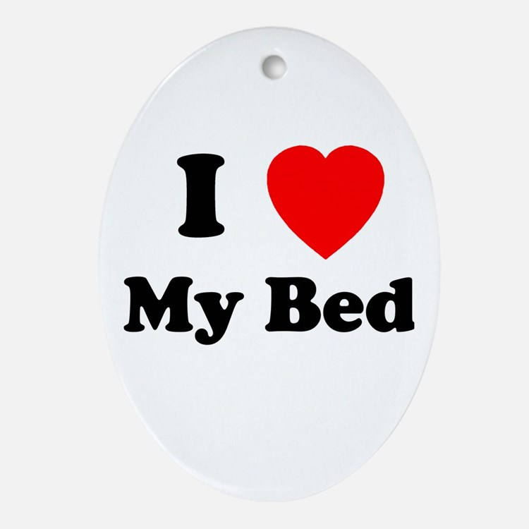 My Bed Oval Ornament