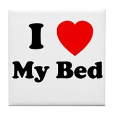 My Bed Tile Coaster