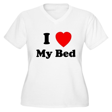 My Bed Women's Plus Size V-Neck T-Shirt