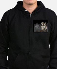 Wolf Totem Animal Spirit Guide for Inspiration Zip Hoodie