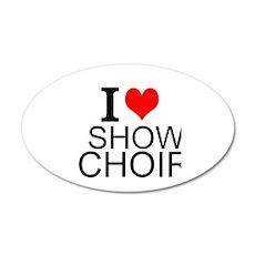 I Love Show Choir Wall Decal