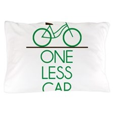 One Less Car Earth Friendly Bicycle Pillow Case