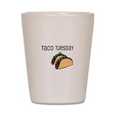 Taco Tuesday Shot Glass
