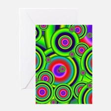 Psychedelic Circles by designeffects Greeting Card