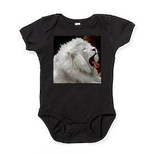 Funny White lion Baby Bodysuit