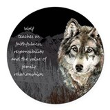 Wolf Round Car Magnets