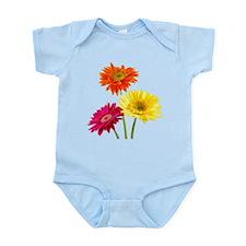Daisy Gerbera Flowers Body Suit