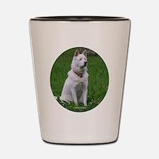 White Dog Shot Glass