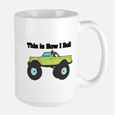 How I Roll (Monster Truck) Large Mug