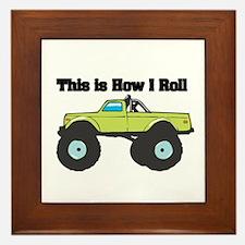 How I Roll (Monster Truck) Framed Tile