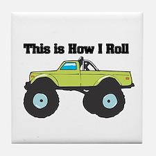 How I Roll (Monster Truck) Tile Coaster