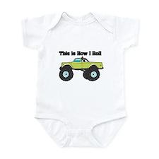How I Roll (Monster Truck) Infant Bodysuit