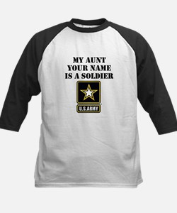 My Aunt Is A Soldier (Custom) Baseball Jersey