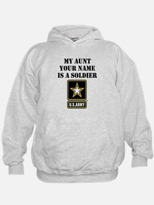 My Aunt Is A Soldier (Custom) Hoodie