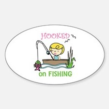 Hooked Fishing Decal