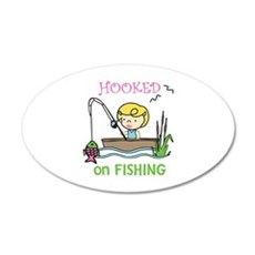 Hooked Fishing Wall Decal