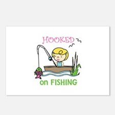 Hooked Fishing Postcards (Package of 8)