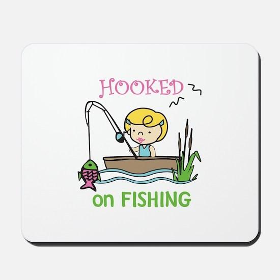 Hooked Fishing Mousepad