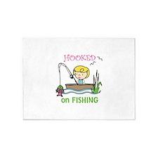 Hooked Fishing 5'x7'Area Rug