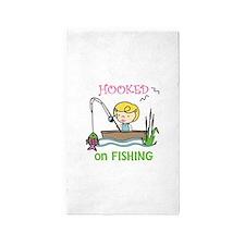 Hooked Fishing 3'x5' Area Rug