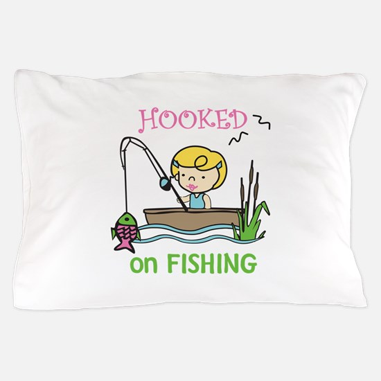Hooked Fishing Pillow Case
