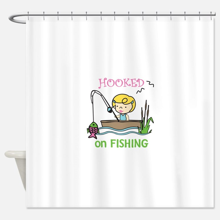 Hooked Fishing Shower Curtain