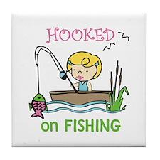 Hooked Fishing Tile Coaster