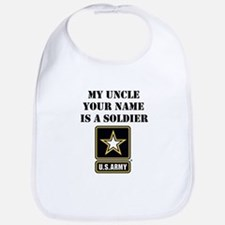 My Uncle Is A Soldier (Custom) Bib