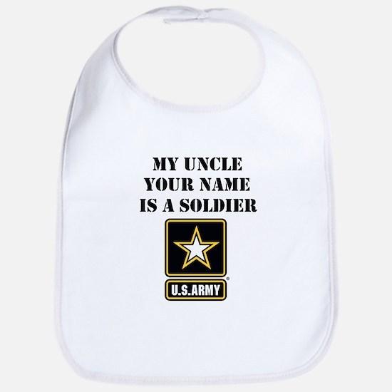 My Uncle Is A Soldier (Custom) Bib