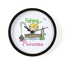 Fishing Princess Wall Clock
