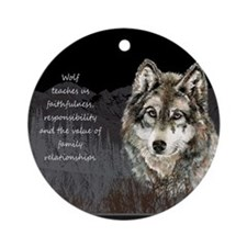 Wolf Totem Animal Spirit Guide for Inspiration Orn