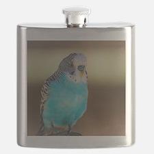 Cute Colorful cartoon parakeets Flask