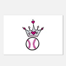 Softball Crown Postcards (Package of 8)