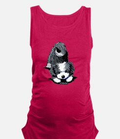 Havanese Bow Maternity Tank Top