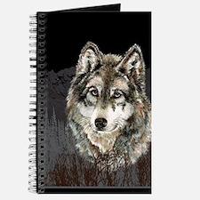 Wolf Mountain Watercolor Animal Nature Art Journal