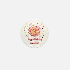 Happy Birthday America Mini Button (10 pack)