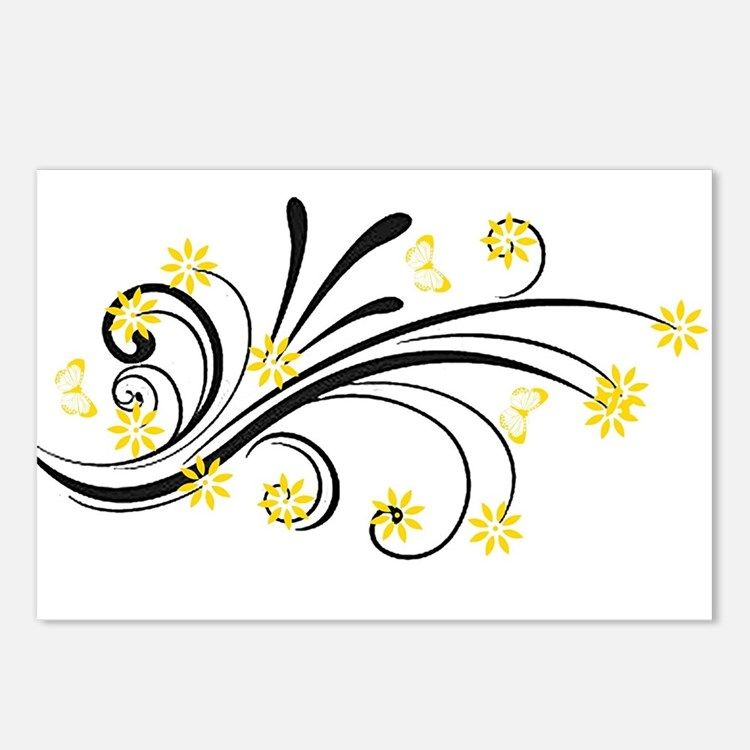 Cute Yellow Postcards (Package of 8)