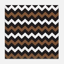 Black Brown And White Tile Coaster