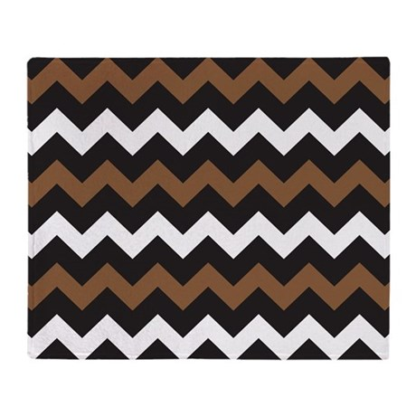black brown and white throw blanket by beautifulbed. Black Bedroom Furniture Sets. Home Design Ideas